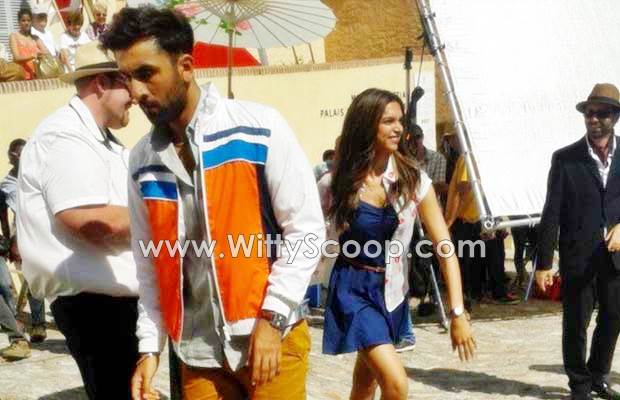 Tamasha Movie - Ranbir Kapoor and Deepika Padukone On Sets