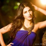 Gabbar Is Back Movie: Shruti Haasan Records A Song In One Hour - How To Be The Trendsetter For The Evening - Shruti Hassan Blue Dress Gorgeous Photo Shoot