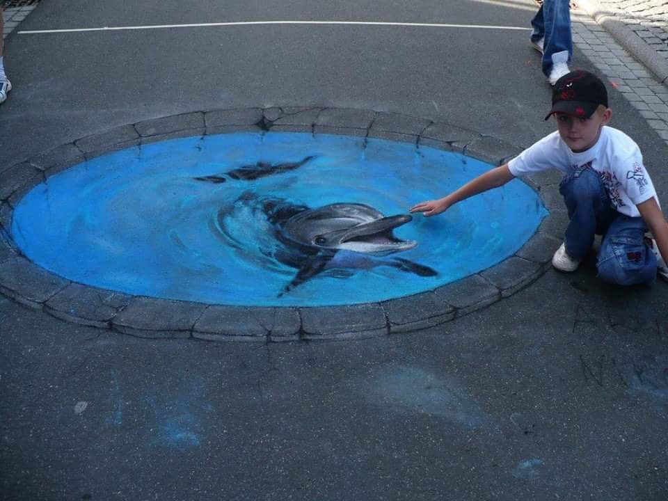Amazing 3d art and 3d street painting for Amazing art paintings