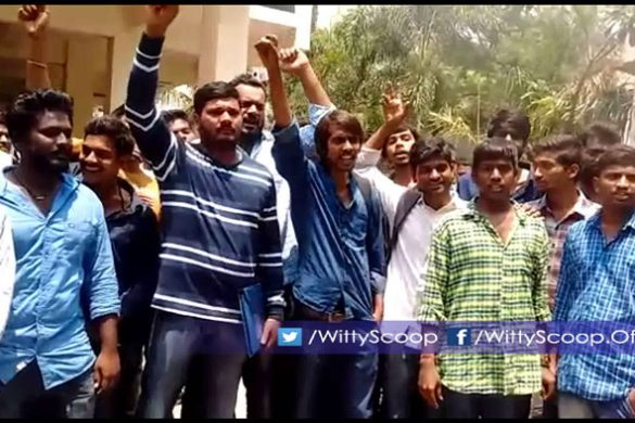 Puri Jagannadh Fans Protesting at Police Station [VIDEO]
