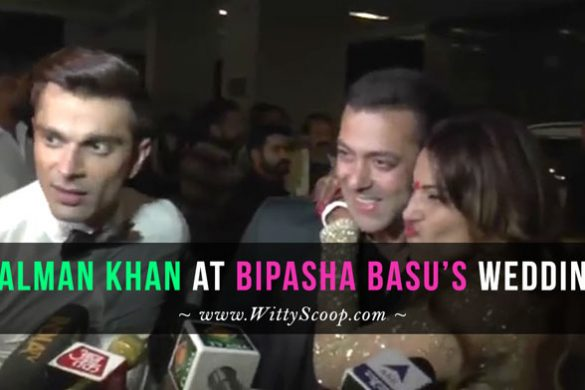 Salman Khan attends Bipasha Basu's wedding in fun mood!