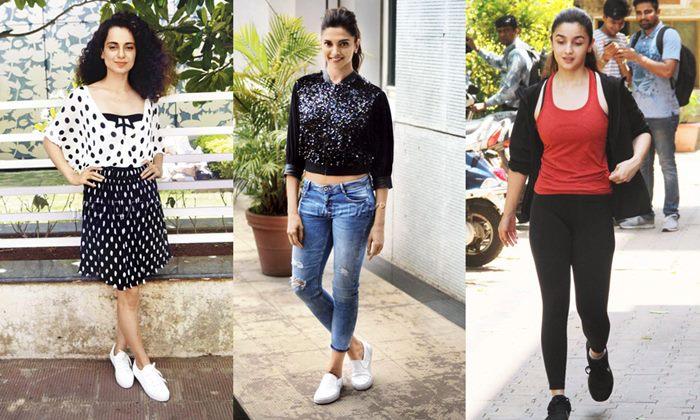 Bollywood Fashion For Sportswear - Alia Bhatt, Anushka, Kangana & Deepika Padukone