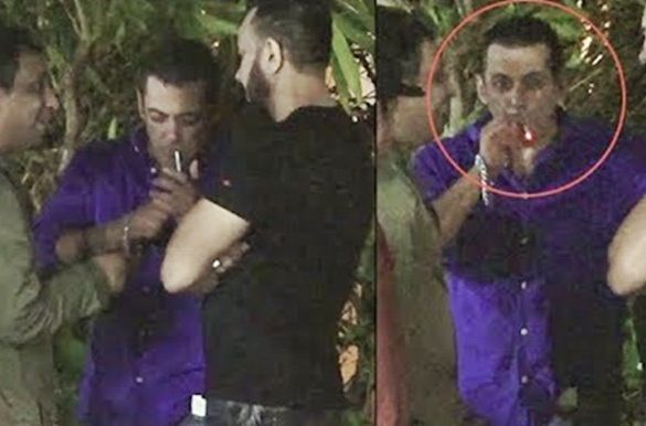 Salman Khan Smoking at Ganesh Utsav, Trolled by Fans [VIDEO]