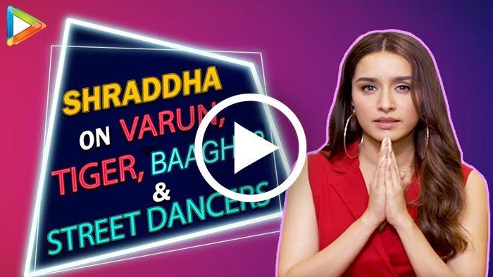 Shraddha Kapoor talks about Varun Dhawan and Tiger Shroff [VIDEO]