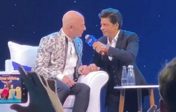 When King of Bollywood Shah Rukh Khan Meets President of Amazon Jeff Bezos