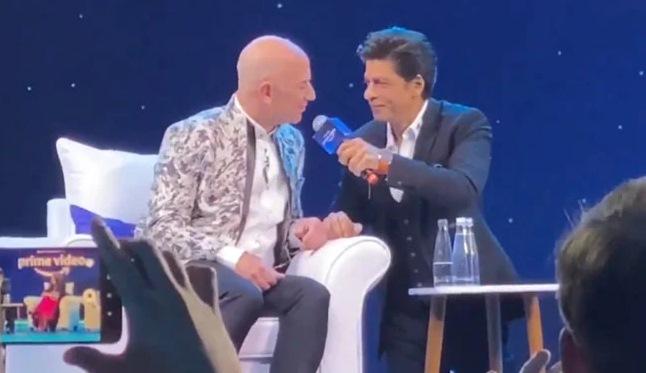 When King of Bollywood Shah Rukh Khan Meets President of Amazon Jeff Bezos