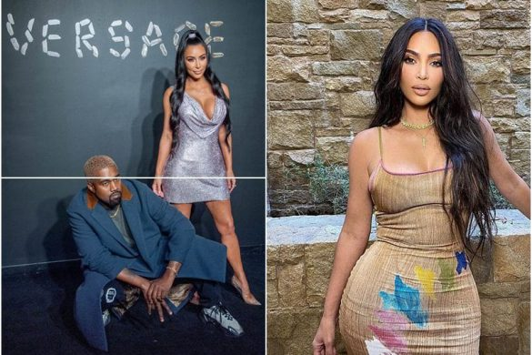 Kim Kardashian Dons A Painted Dress Amid Marriage Crisis