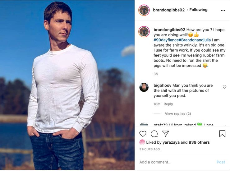 90 Day Fiance Brandon IG