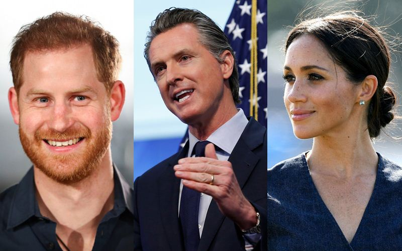 Meghan Markle, Prince Harry, Gavin Newsom