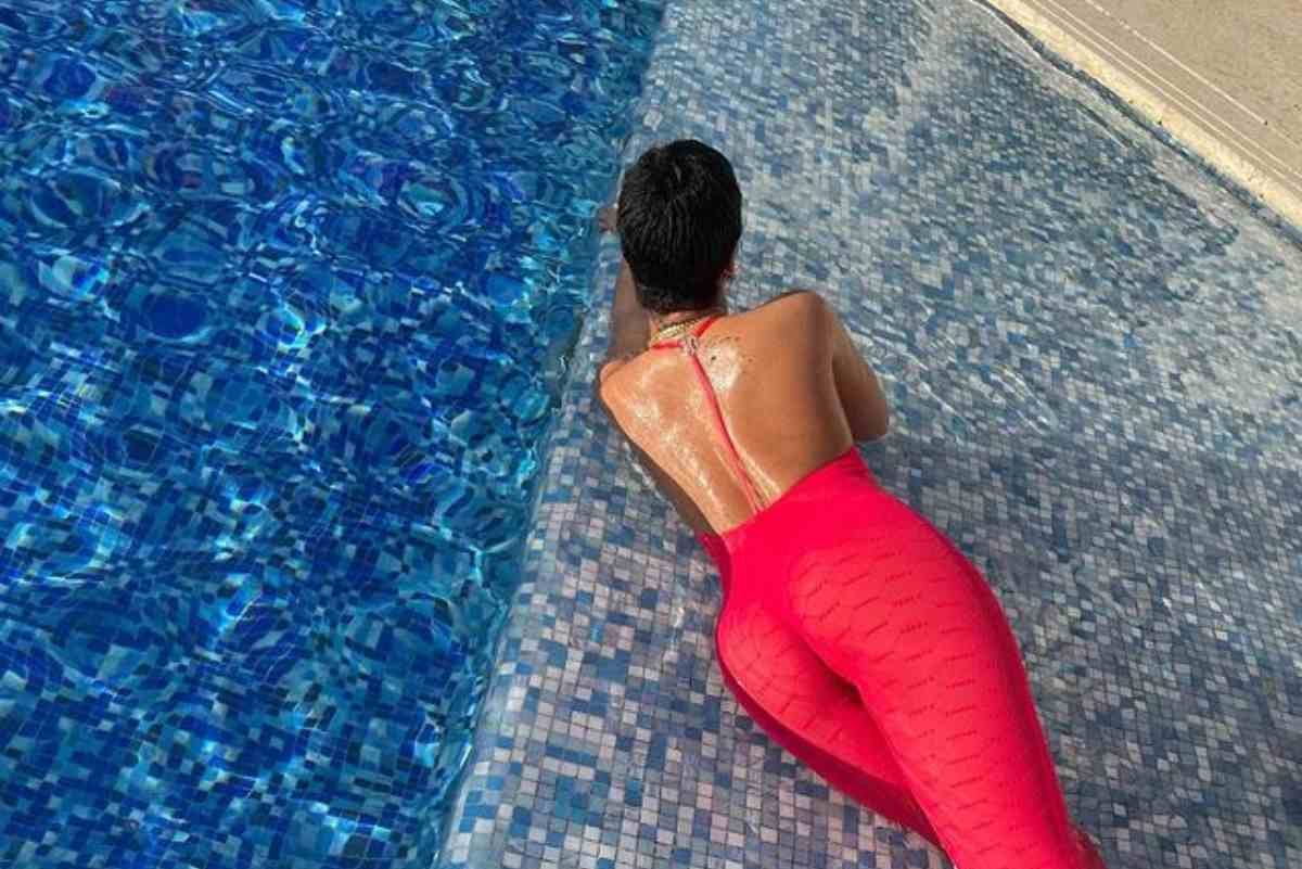 Rihanna Wears a Red Catsuit For A Photoshoot [Photos]